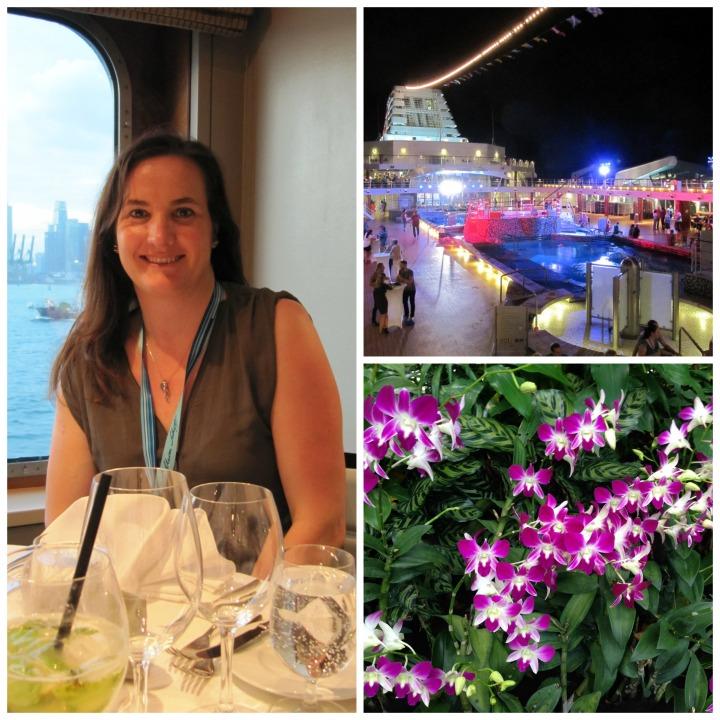 Patricia Miller an Bord der Mein Schiff 1