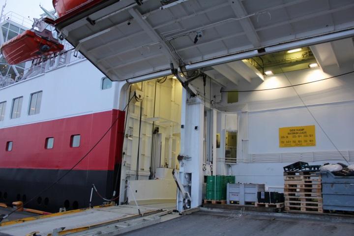 Frachtraum der MS Nordlys