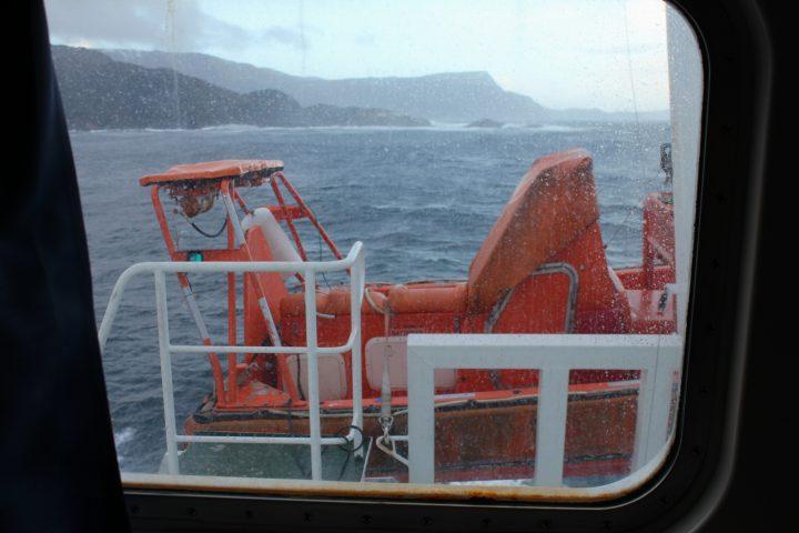 Sturm an Bord der MS Nordlys
