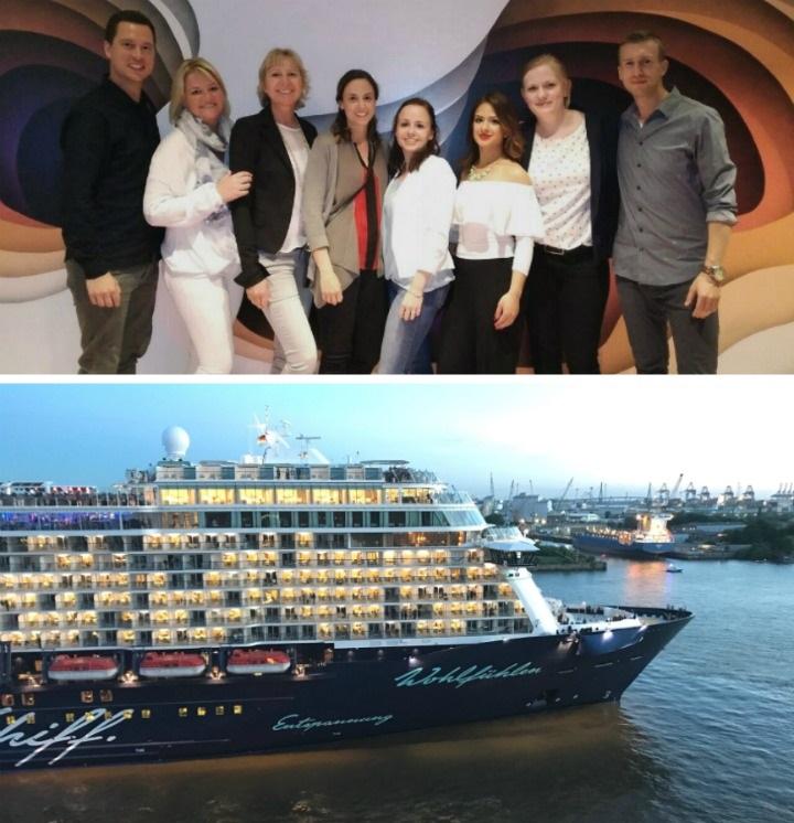 e-hoi Crew an Bord der Mein Schiff 6