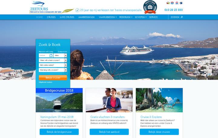 Screenshot von zeetours.nl - e-domizil GmbH