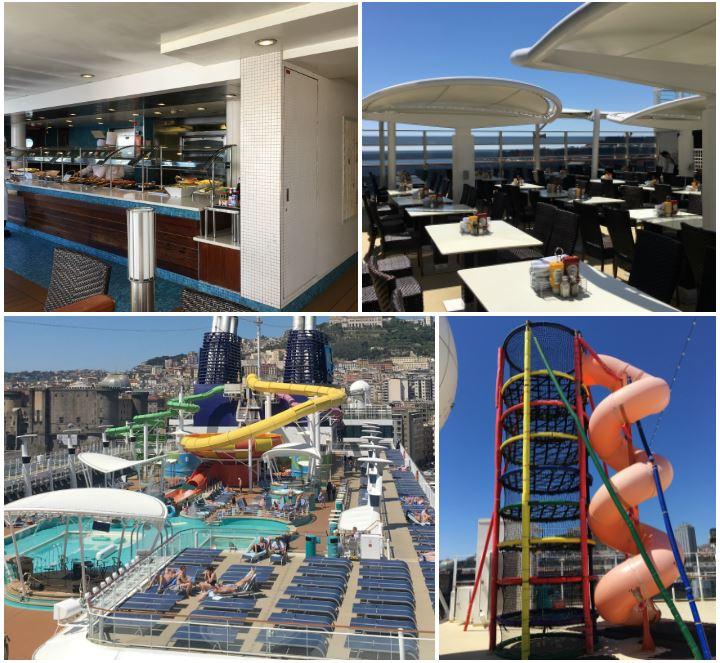 Garden Café und Poolbereich